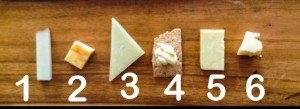 cheese flight with numbers